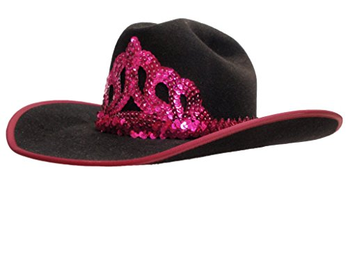 D Bar J Hat Brand, Female, Cattlemans, Size 7 1/4, Black by D Bar J Hat Brand