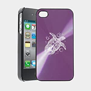 Sea Turtle iPhone 4 Case iPhone 4S Case - MetalTouch CD Purple Aluminium Shell Protective Case