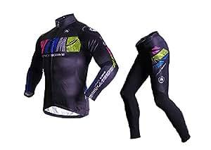 Para hombre Sobike de equitación para ciclismo de forro polar pantalones de invierno de ciclismo para removible-AK, color negro, tamaño 3X-Large