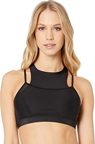Body Glove Women's Smoothies Diversion Solid Hybrid Bikini Top Swimsuit, Black, -