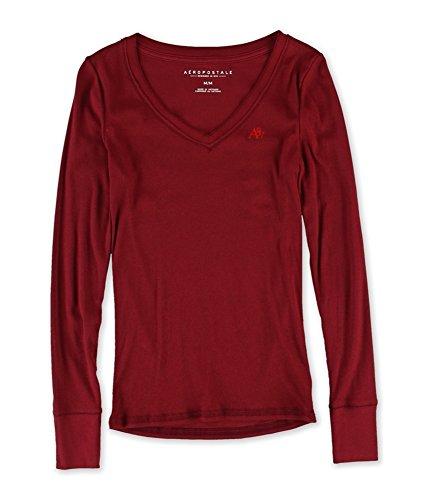 Aeropostale Womens A87 V Neck Embellished T-Shirt 626 S (Aeropostale Clothing)