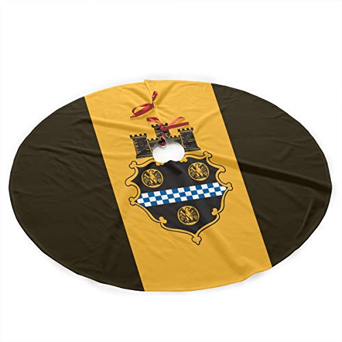Fengyaojianzhu City of Pittsburgh Flag Christmas Tree Skirt Mat Decoration Christmas Party Floor Christmas Ornaments Holiday Parties are -