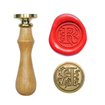 UNIQOOO Initial R Vintage Wax Sealing Stamp Arts Crafts Wine Wedding Invitation Letter