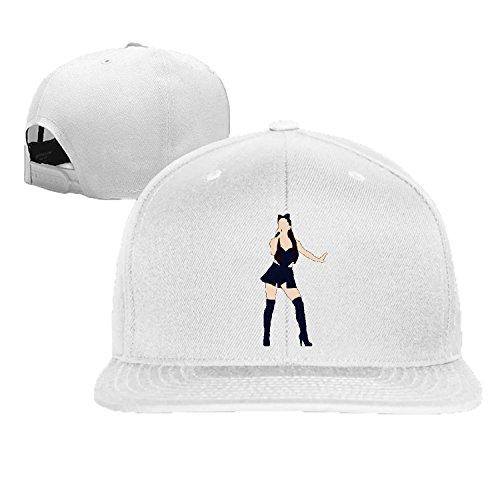 baseball cap hip hop hat pop singer Grande cap Black (5 colors)