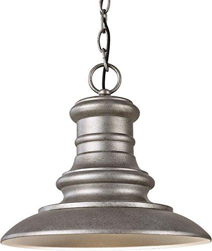 12' One Light Pendant - Feiss OL8904TRD-LED Redding Station LED Outdoor Pendant Lantern, 1-Light, Tarnished (12