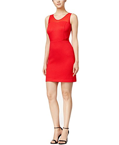 Kensie Women's Printed Illusion-Contrast Sheath Dress (Large, Cyanide) - Kensie Girl Printed