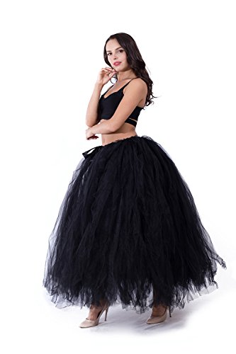 kephy Handmade Adult Puffy Tutu Tulle Skirt For Women 100 cm Long Floor Length Wedding Party Skirts