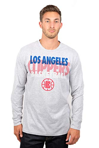 NBA Los Angeles Clippers Men's T-Shirt Supreme Long Sleeve Pullover Tee Shirt, Large, Gray ()