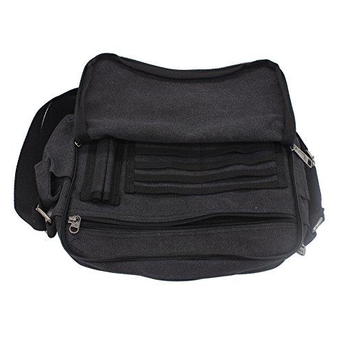 Bag Ocio Negro Messenger de viaje Hombre bolso a al Bolso Bandolera SHABEI hombro lona de wPUHTT