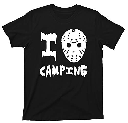 Friday The 13th T Shirt I Love Camping Jason Voorhees 80s Slasher Horror Movie Tee (3XL, -