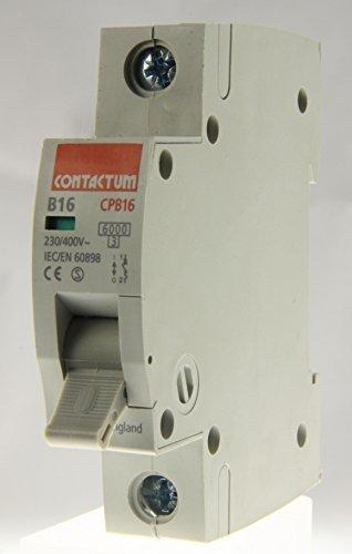 CONTACTUM CPB16-B16//1 16AMP SINGLE POLE CIRCUIT BREAKER MCB TYPE B