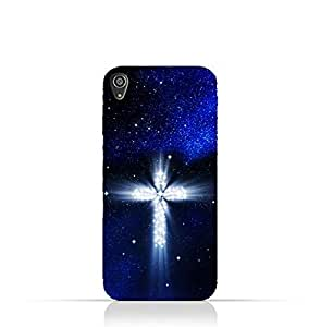 Sony Xperia XA Ultra TPU Silicone Protective Case with Christian Cross on a Starry Night Design