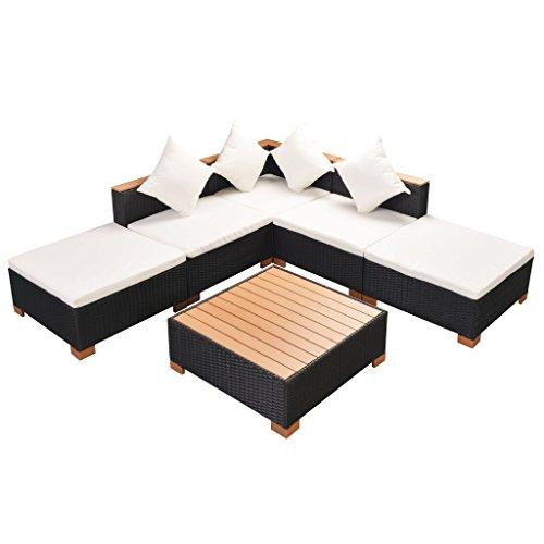 vidaXL Patio Wicker Rattan Garden Outdoor Sofa Lounge Couch Setting Furniture from vidaXL