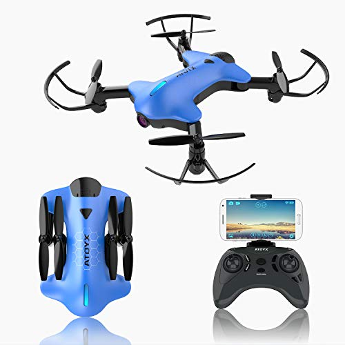 2019 Upgraded Foldable Drone with Camera for Adults,720P HD Wide-Angle Lens,Real-time Live Video,RC Quadcopter with 3D Flips and a Variety of Functions,Super Easy to Flying Drone is a Fun Gift