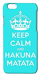 Generic Keep Calm and Hakuna Matata Light Blue and White Hard Case for iPhone 6