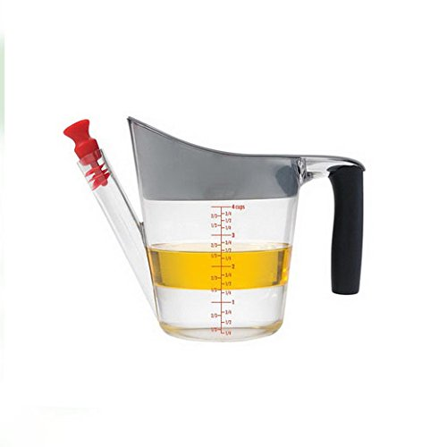 Fat Separator Measuring Cup - Nurs & Nurs - Fat Separator / Measuring Cup with Strainer & Fat Stopper / 1 Liter Capacity