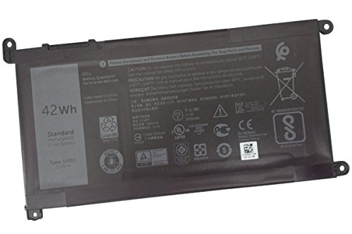 United Power Replacement Dell 51KD7 Battery for Dell Chromebook 11 3180-11.4V 42Wh 51KD7 FY8XM 0Y07HK Y07HK by United Power (Image #1)