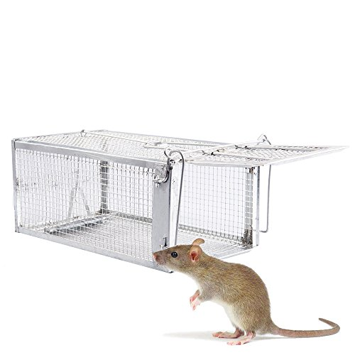 Fasmov Humane Live Small Animal Trap Cage, Hamsters, Moles, Weasels, Gophers, and Other Small Rodents - Live Trap