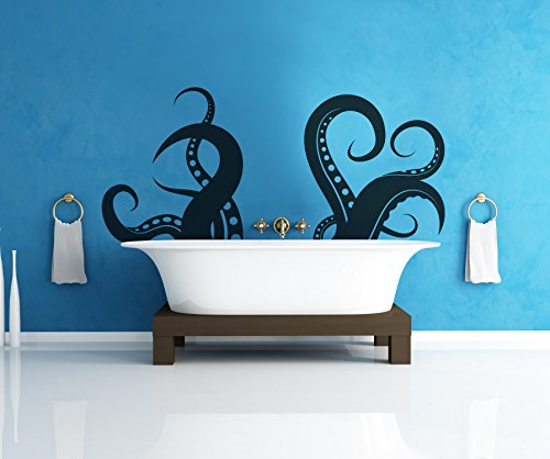 Cheap  Giant Octopus Tentacles Wall Decal Sticker - Black, 27