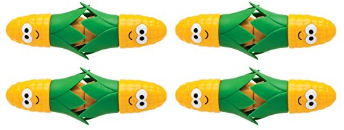 Joie Corn Star Interlocking Corn on the Cob Holders (2 pairs each), Yellow - 2 pack (8 picks - Corn 8 Cob Holders