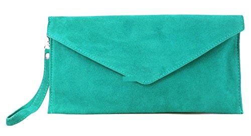 Bolso Diseño La Grande 022tlhr Gamuza Italia Teal De Green Bandera Tamaño Gfm Forma Marca Sobre En qz0fHdnw