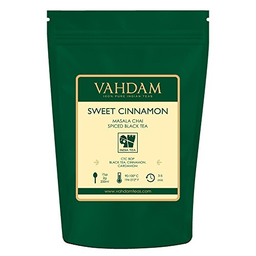 VAHDAM, Cinnamon Masala Chai Tea (100 Cups)  | 100% NATURAL SPICES | Ancient Cinnamon Tea Recipe | Spiced Chai Tea Loose Leaf | Brew Hot Tea, Iced Tea or Chai Latte | Black Tea | 3.53oz (Set Of 2) (Iced Chai Tea Latte Recipe With Tea Bag)