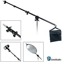 LimoStudio 2-way Mounting Lighting Boom Arm with Sandbag for Photography Video Studio, AGG1835