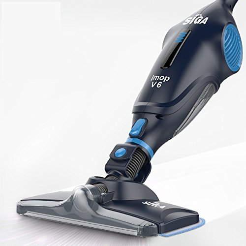 MR. SIGA IMOP 3 in 1 Cordless Lightweight Vacuum Cleaner Mop, Rechargeable 2500 mAh Lithium Battery Powered, including 2 Filters, 2 Microfiber Mop Cloths and 2 Dry Sweeping Sheets Microfiber Lightweight Mop