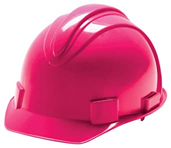 Jackson Safety 20403 Charger High Density Polyethylene Hard Hat with 4 Point Ratchet Suspension, Neon Pink (Pack of 12)