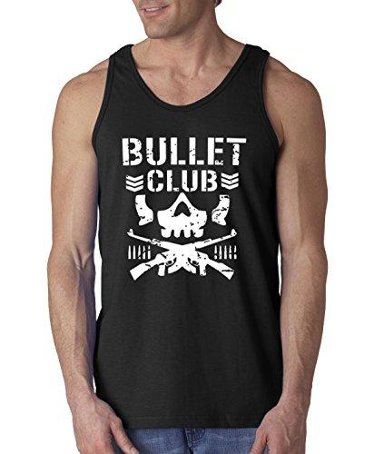 New Way 786 - Men's Tank-Top Bullet Club Skull Bone Soldier Japan Pro Wrestling XL Black (Bones Tank)