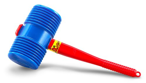 us-toy-one-giant-squeaky-circus-carnival-clown-hammer-assorted-color