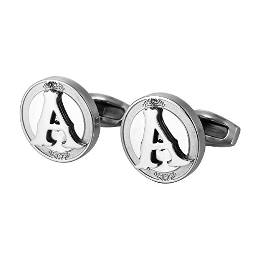 HOUSWEETY Stainless Letter Cufflinks Doorbuster