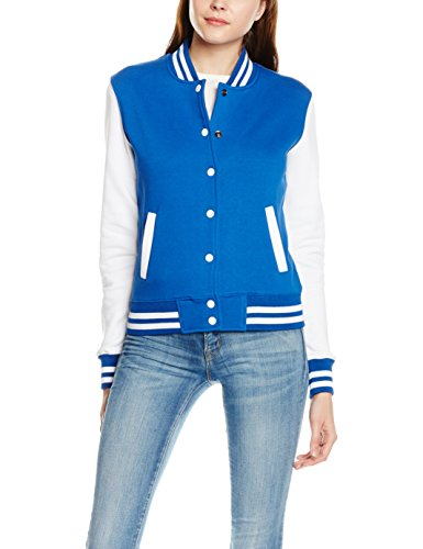 Urban Classics Ladies 2-tone College Sweatjacket - Prenda real-blanco