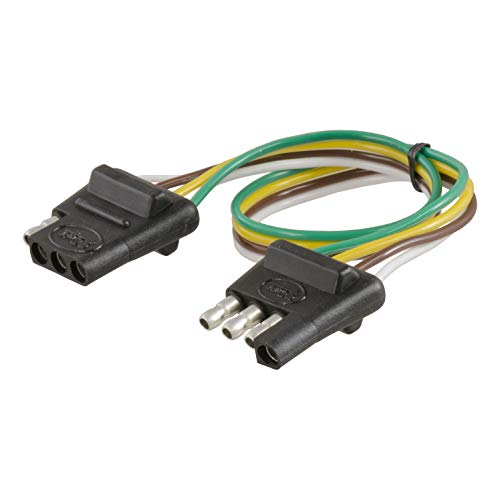 CURT 58380 Vehicle-Side and Trailer-Side 4-Way Trailer Wiring Harness with 12-Inch Wires, 4-Pin Trailer Wiring ()