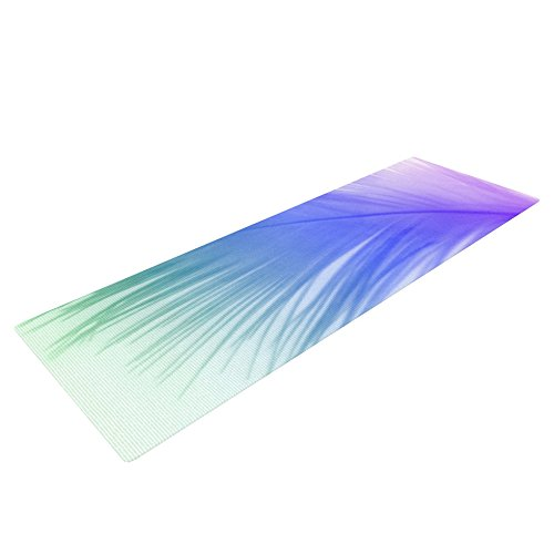 AC1002AYM01 72 x 24-Inch KESS Global Inc Kess InHouse Alison Coxon Feather Colour Yoga Exercise Mat Feather Color