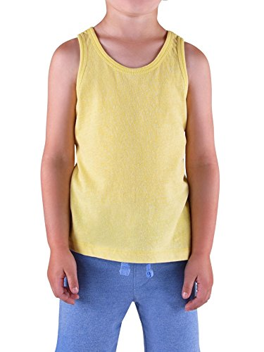 Colored Organics Boys' Organic Toddler Muscle Tank Top - Heather Yellow - 4T