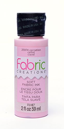 Fabric Creations Fabric Ink in Assorted Colors (2-Ounce), 25974 Carnation