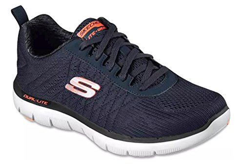 Flåde Appelsin Letvægts Skechers Sport Mænds Flex Fordel 2.0 De Happs Oxford Sneakers Sko aXHxtlQWzn
