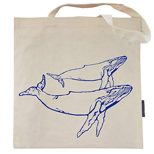 (The Blue Whales Tote Bag by Pet Studio Art)