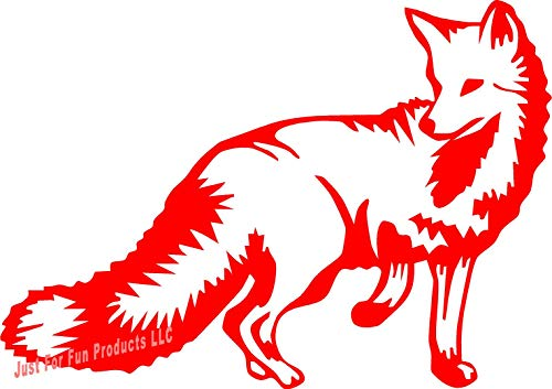 Just For Fun 6 x 4.25 Fox Animal Vinyl Die Cut Decal Bumper Sticker, Windows, Cars, Trucks, laptops, etc ()