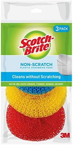 [해외]Scotch-Brite Non-Scratch Plastic Scrubbing Pads 3 Scrubbing Pads Assorted / Scotch-Brite Non-Scratch Plastic Scrubbing Pads 3 Scrubbing Pads Assorted