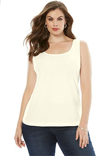 Women's Plus Size U-Neck Tank Top by Roamans