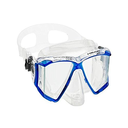 HEAD Mares Adult Barracuda Purge Mask, Scuba Diving Snorkeling Dive Mask (Mask Dive Valve Purge)
