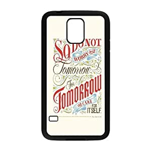 Qxhu Bible Verse Protective Snap On Hard Plastic Case for SamSung Galaxy S5 I9600