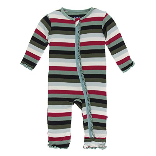 Kickee Pants Print Muffin Ruffle Coverall with