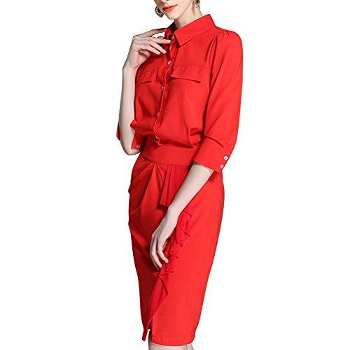 Pinkyee CLAK0232026 - Vestido Rojo