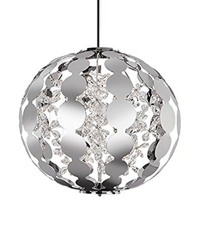 Flora 1 Light Pendant - Radionic Hi Tech Kara 1 Light Chrome Pendant, 25