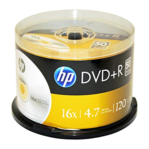 HP DR16050CB 4.7GB 16x DVD+Rs (50-ct Cake Box Spindle) Consumer - 50 Cake Box Disc