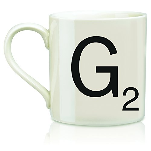 "SCRABBLE Vintage Ceramic Letter""G"" Tile Coffee Mug"