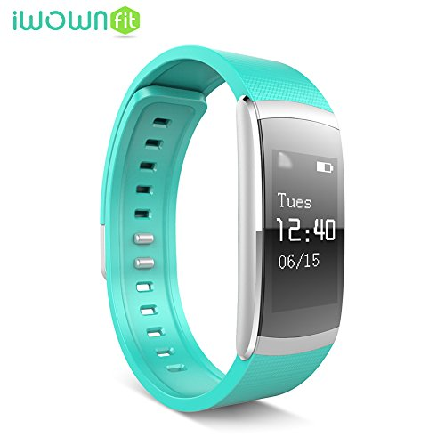 IWOWNFIT I6 PRO Smart Wristband Fitness Tracker Heart Rate Monitor IP67 Waterproof Bluetooth Smart Band Bracelet for Android IOS (Blue)